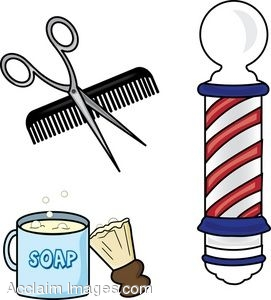 clip art of barber shop items rh clipartguide com barber shop clipart barber shop chair clipart