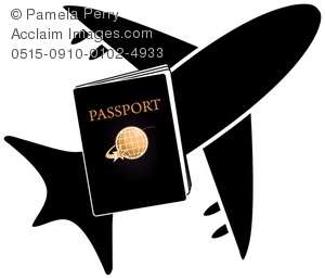 Passport and Airplane Icon