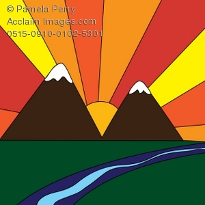 sunset in the mountains royalty free clip art picture rh clipartguide com Mountain Sunrise Clip Art Mountain Sunrise Clip Art
