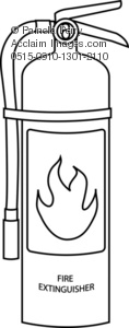 Extinguisher Coloring Page