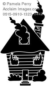 House on Fire Silhouette