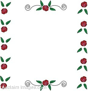Rose Page Border