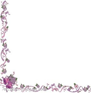 Clip Art of A Page Border Made Of Wedding Bells