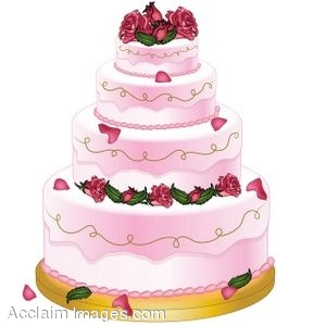 clip art of beautiful wedding cake on fancy birthday cake clipart