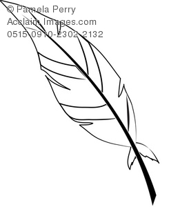 Feather Coloring Page RoyaltyFree Clip Art Picture