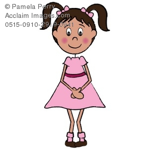 shy little girl in a pink dress royalty free clip art picture rh clipartguide com free girl clipart images free clipart girl running