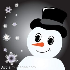 Clip Art of a Snowman Page Background