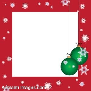 Clip Art of a Christmas Ornament Page Border