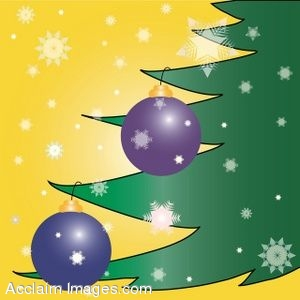 Christmas Ornaments Page Background