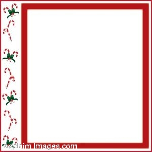 Candy Canes Page Border