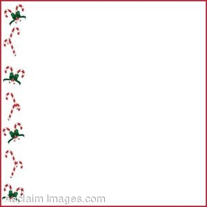 Christmas Page Border.Clip Art Of Christmas Page Border Made Of Candy Canes