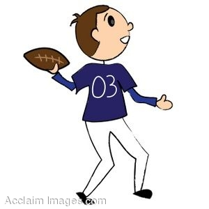 Stick Figure Quarterback