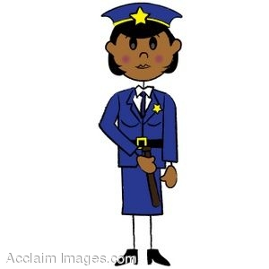 clip art illustration of a african american stick policewoman rh clipartguide com police officer clipart black and white police officer clipart black and white