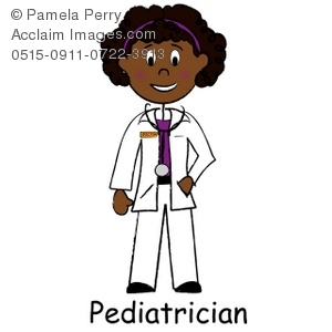 clip art image of a african american lady doctor a