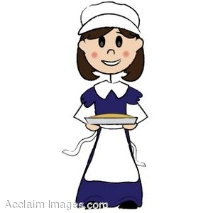clip art of a pilgrim girl holding a pie rh clipartguide com  free pilgrim hat clipart
