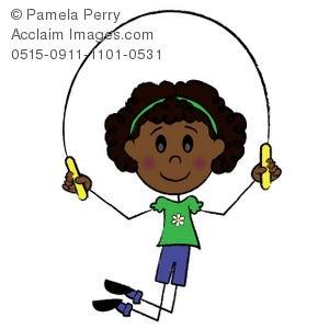 clip art illustration of an african american stick girl skipping rope rh clipartguide com boy jump rope clipart girl jump rope clipart