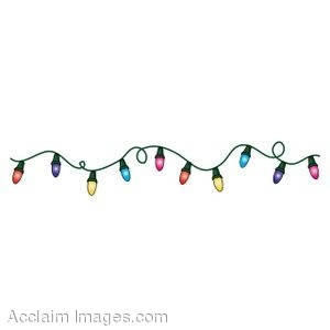 : Clip art of a colorful string of Christmas lights. Clip art ...