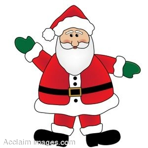 clip art of santa claus wearing mittens and waving rh clipartguide com clipart of santa claus black and white clipart of santa claus black and white