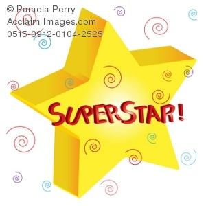 clip art illustration of 3d star with superstar text rh clipartguide com super star images clipart super star clip art free
