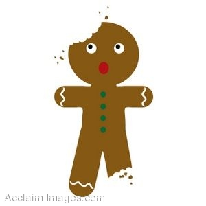 Partially Eaten Gingerbread Man Cookie