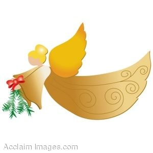 Christmas Angels Images Clip Art.Clip Art Of A Golden Christmas Angel