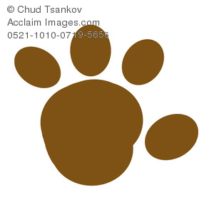 A Muddy Cartoon Paw Print.