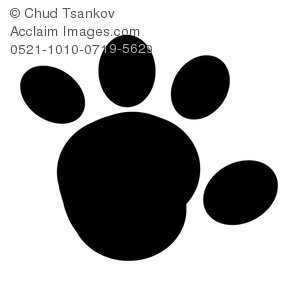 A Black and White Paw Print.