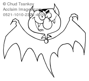 Halloween Coloring Page of a Spooky Vampire.