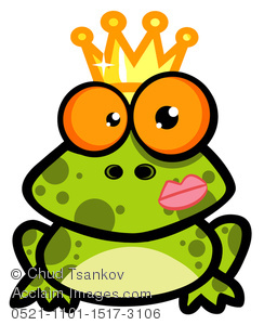 A Green Frog Wearing a Crown.