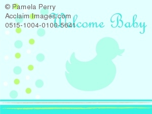 Blue Duck Baby Shower Graphic