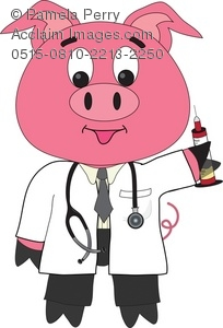 Cartoon Pig Doctor