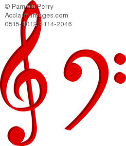 Treble Clef and a Bass Clef
