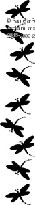 Dragonflies in a border design graphic
