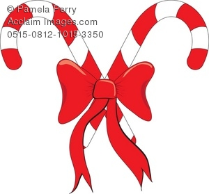 candy canes with red bow