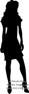 Clip Art Silhouette Of A Sexy Woman