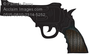 clip art illustration of a Pistol