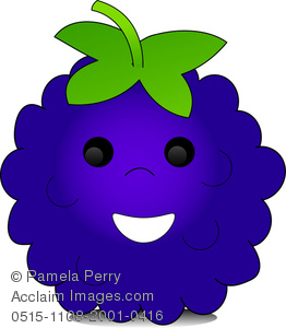 Pamela Perry illustration showing a cartoon blackberry