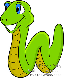 Bright Green Clip Art Of A Smiling Worm With Blue Eyes