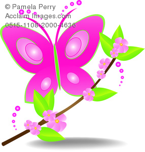 clip art illustration of a beautiful pink butterfly landing on a rh clipartguide com beautiful clip art images beautiful clip art images