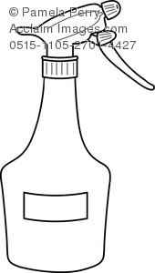 clip art image of a spray bottle