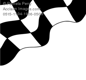 clip art illustration of a portion of a racing flag on a white background