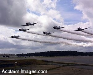 Picture of Six Navy Jets in Flight