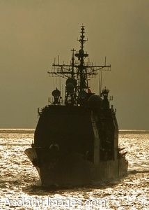 Free Picture of a Navy Ship at Sea