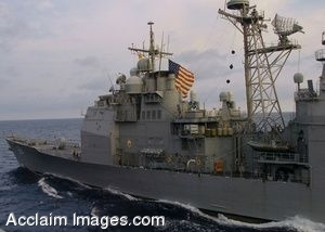 Clipart Photo of Guided Missile Cruiser