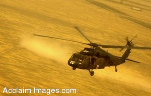 Photo of U.S. Army UH-60A Black Hawk Helicopter in Flight