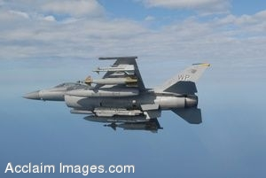Clip Art Photo of an U.S. Air Force F-16C Fighter Jet