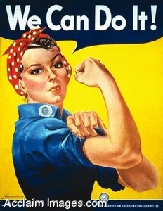 Clip Art of Rosie the Riveter Military Poster