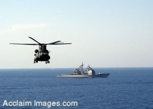 Clip Art Photo of an  MH-47 Chinook Helicopter