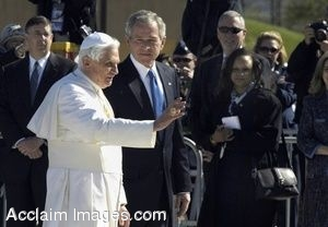 Clip Art Photo of George W. Bush With Pope Benedict