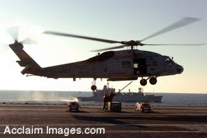 Clip Art Photo of a Navy HH-60H Seahawk Helicopter